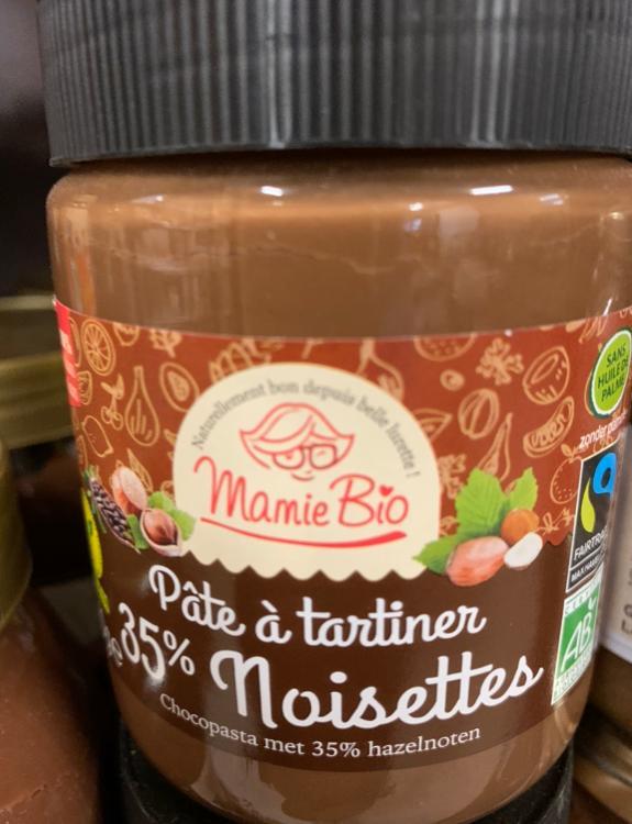 Pâte à tartiner 35% Noisettes Mamie Bio 270g