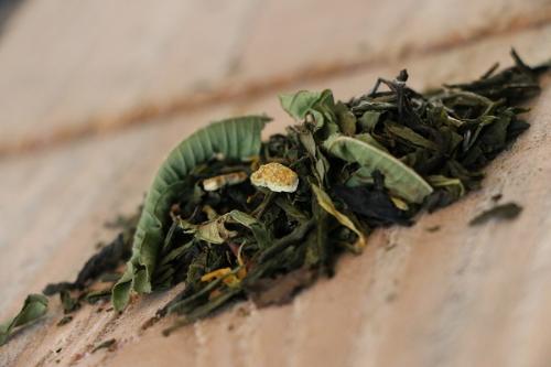 Thé Vert Denise et Jean (Thé Sencha, Darjeeling vert, Pai Mu Tan blanc, Chun mee, mandarine, verveine, fleurs de soucis, thé doux proche de la tisane) 100g
