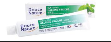 Dentifrice Menthe Haleine Fraiche 75ml Douce Nature