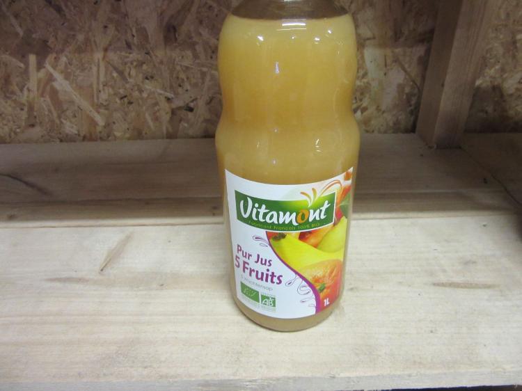 Pur Jus 5 Fruits Vitamont  1L (pommes orange, banane, abricot, poire)