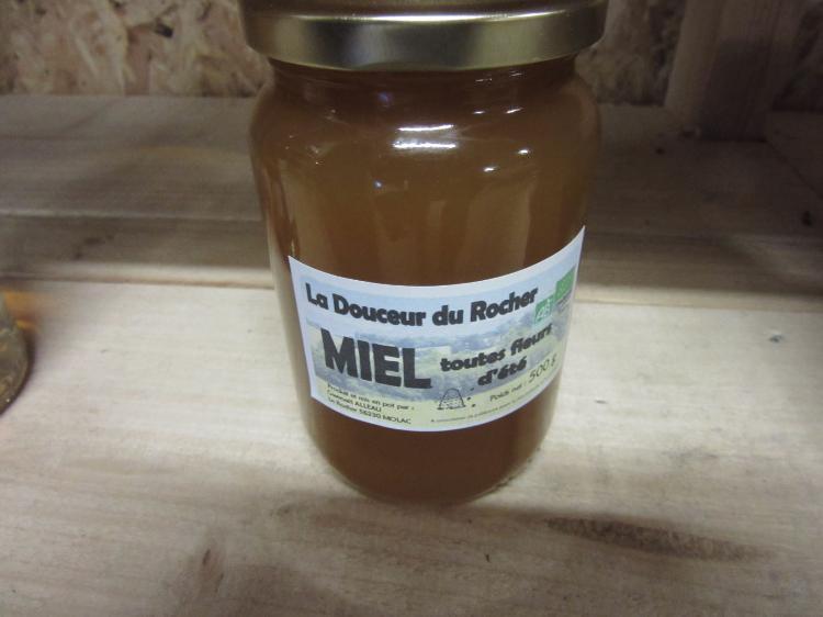 Miel Toutes fleurs La douceur du rocher 500g