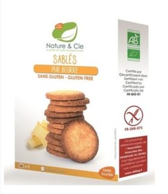 Sablés Pur Beurre Sans Gluten 135g Nature et Cie