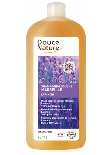 Shampooing Douche Marseille Lavande de la Drôme 1 L Douce Nature