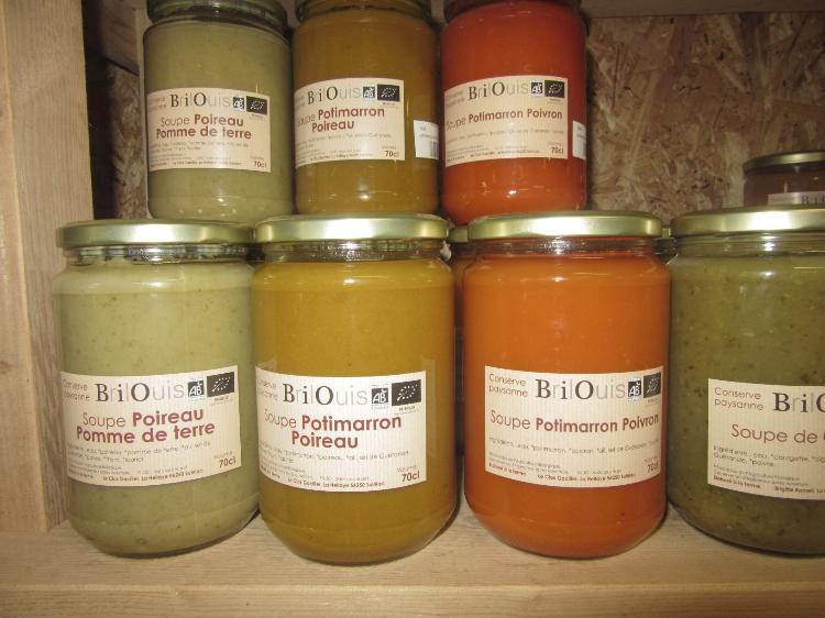 Soupe Potimarron Poireau  Conserve Paysanne Brilouis 70cl Pot en Verre