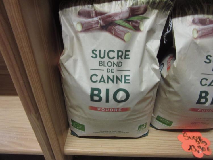 Sucre de Canne 5kg  (Mi Blanc Poudre  Non raffiné Idéal pour confiture)
