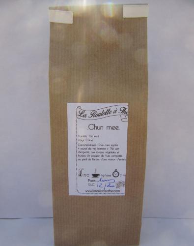 Thé Vert Chun Mee 100g (de Chine, thé vert aux notes céréalières)