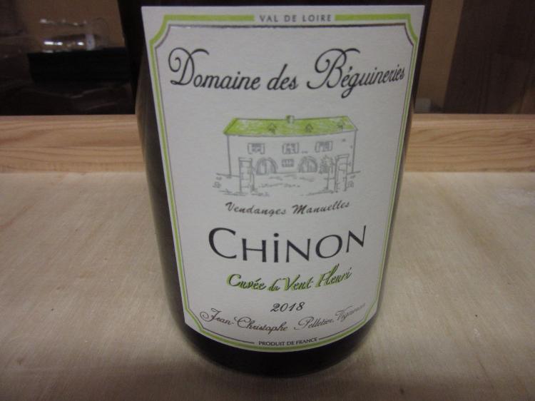 Vin de CHINON BLANC VENT FLEURI  2018 75cL 12,5%
