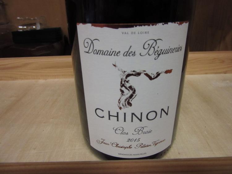 Vin de CHINON ROUGE CLOS DE BRAIE 2015 75cL 13%