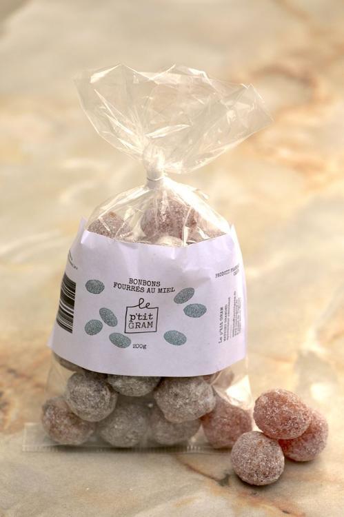 Bonbons fourrés au miel sachet de 200 grammes