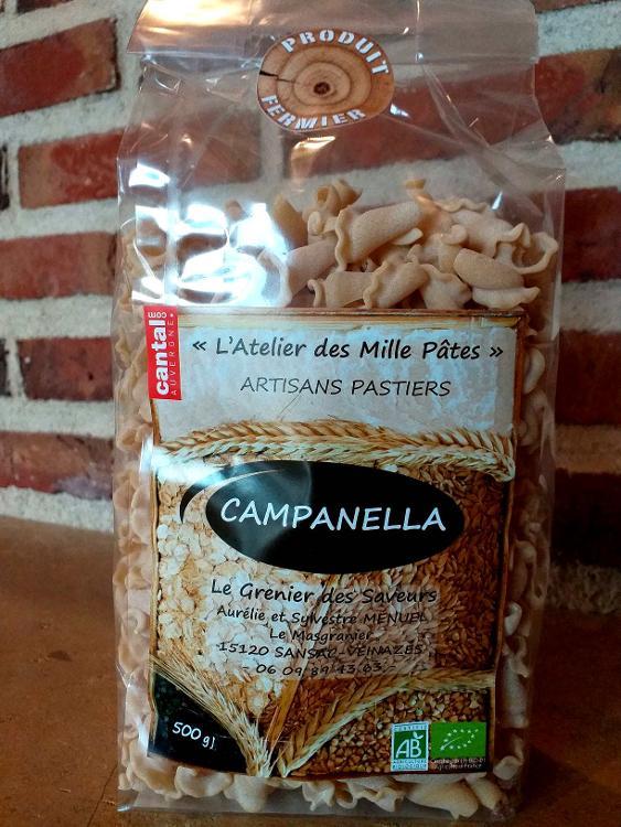 CAMPANELLA - Pâtes Paysannes Natures à la Farine de Blé Dur Type 65 - 500 G