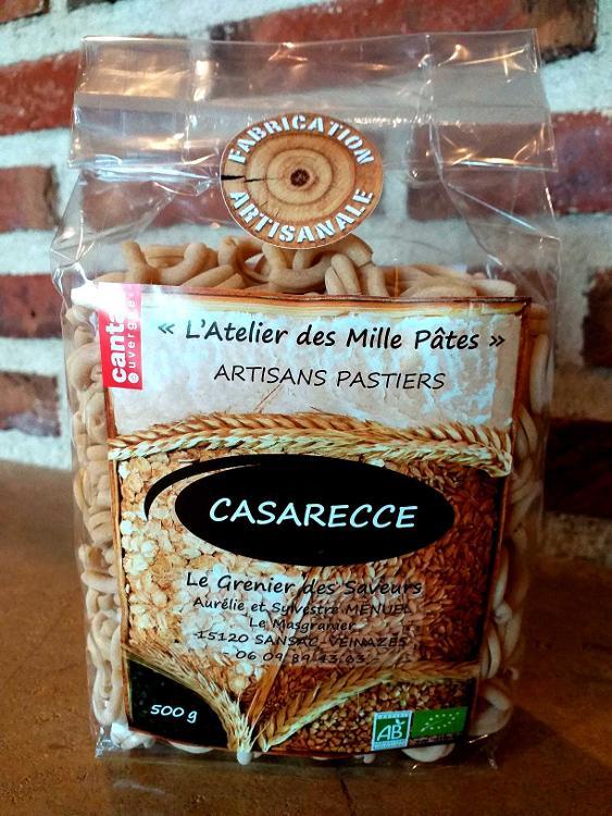 CASARECCE - Pâtes Paysannes Natures à la Farine de Blé Dur Type 65 - 500 G