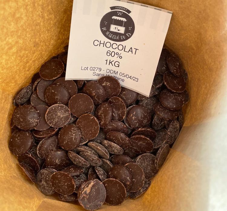 Chocolat 60% en pistole  Bio 1 Kg