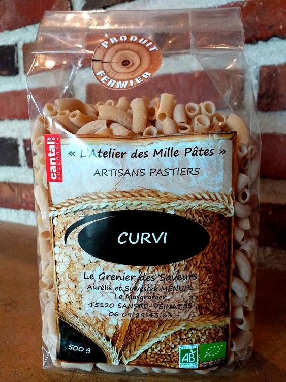CURVI - Pâtes Paysannes Natures à la Farine de Blé Dur Type 65 - 500 G