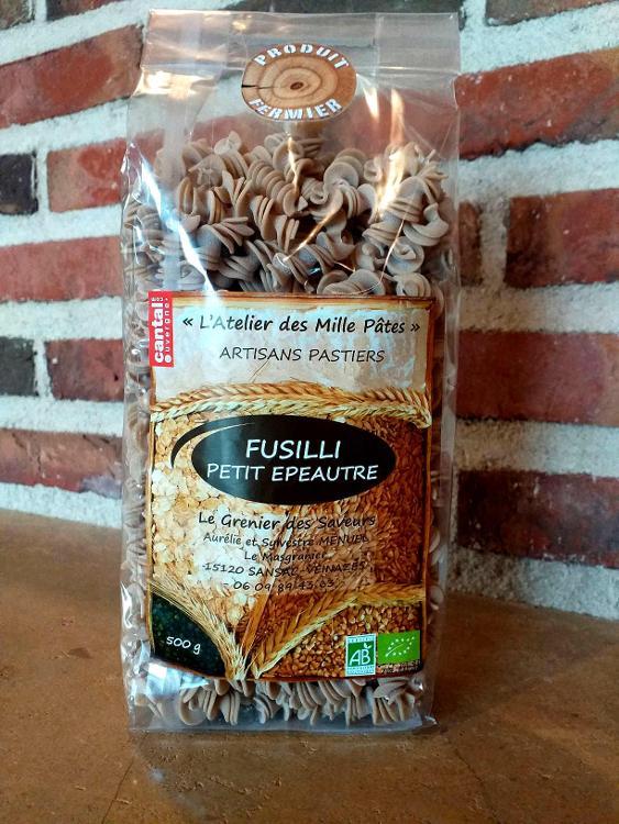 FUSILLI PETIT EPEAUTRE - Pâtes Paysannes à la Farine de Petit Epeautre Type 80 - 500 G