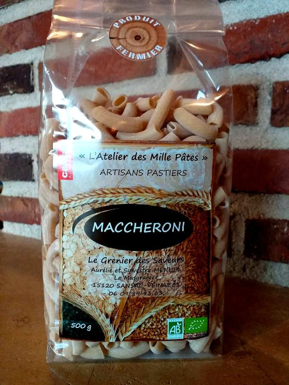 MACCHERONI - Pâtes Paysannes Natures à la Farine de Blé Dur Type 65 - 500 G