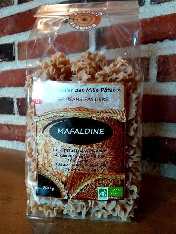 MAFALDINE - Pâtes Paysannes Natures à la Farine de Blé Dur Type 65 - 500 G