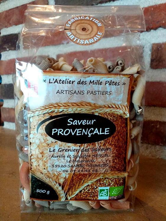 Saveur PROVENCALE - Pâtes Paysannes Tricolores : Natures, à la Tomate et aux 8 Epices - 500 G