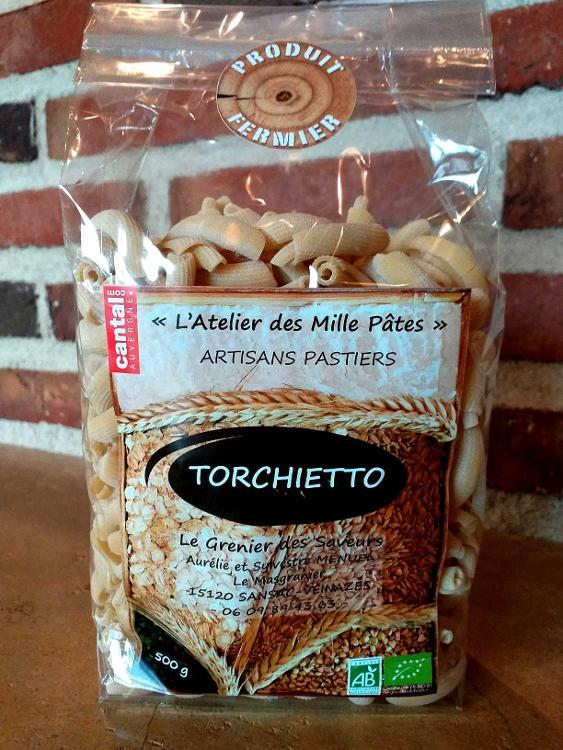 TORCHIETTO - Pâtes Paysannes Natures à la Farine de Blé Dur Type 65 - 500 G