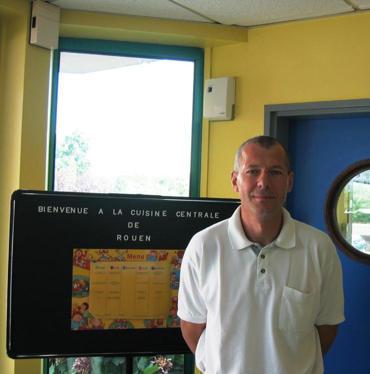 Dominique Maupin, directeur de la cuisine centrale des villes de Rouen et Bois-Guillaume