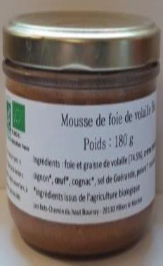 Mousse de foie de volaille 180g