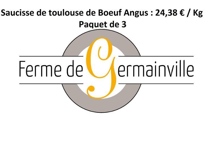 [Réservation] Saucisses de Toulouse de Boeuf Angus (paquet de 3)