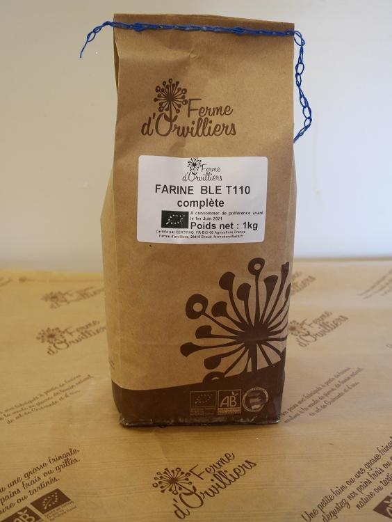 Farine  de blé complète T110 1kg