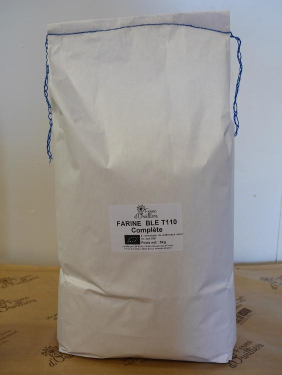 Farine  de blé complète T110 5kg