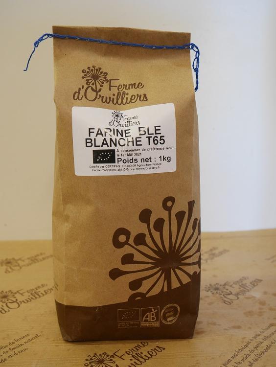 Farine de blé T65  1Kg