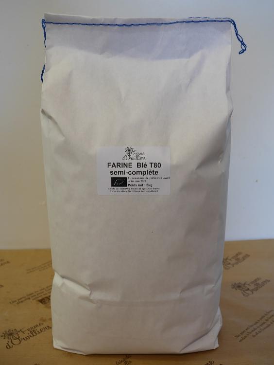 Farine  de blé semi-complète T80 5kg