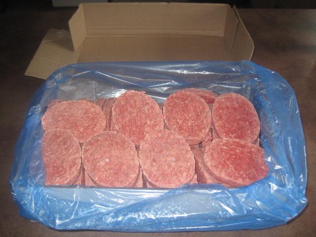 Colis de 3kg de steaks hachés surgelés (25 steaks de 120g) pour livraison vendredi 29 Octobre
