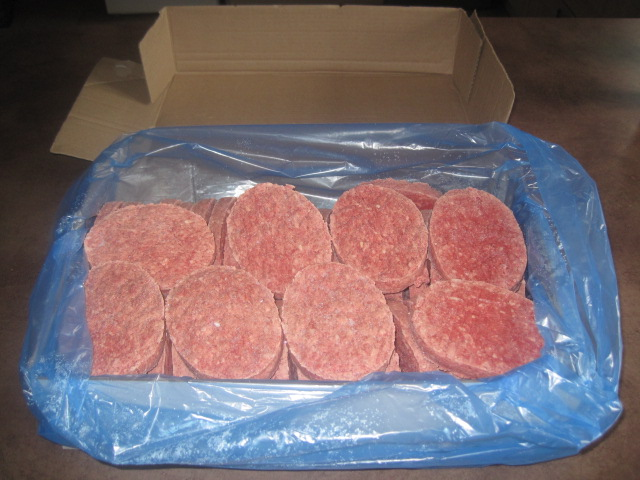 Colis de 6 kgs de steaks hachés surgelés (50 steaks de 120g) livraison vendredi 29 Octobre