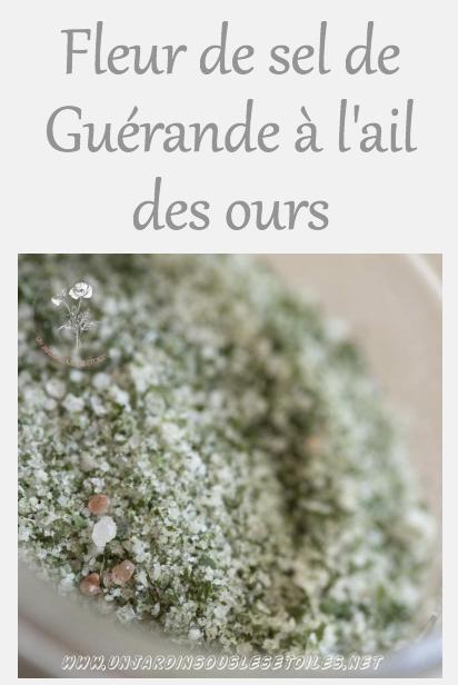 Fleur de sel de Guérande à l'ail des ours