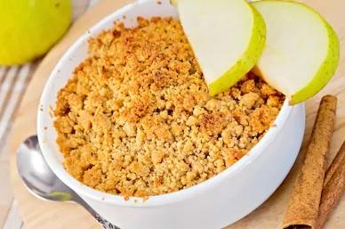 Crumble Pommes-poires à la cannelle