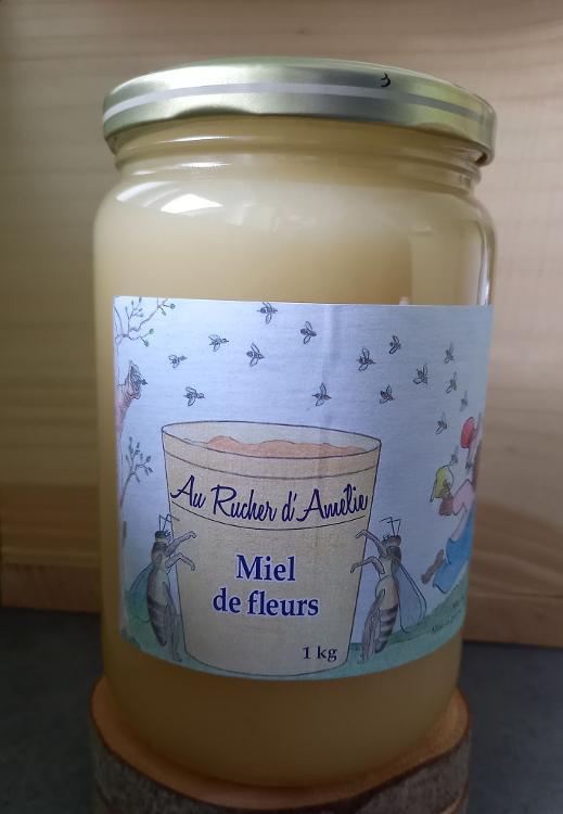 miel de fleurs, cristallisé, 1kg