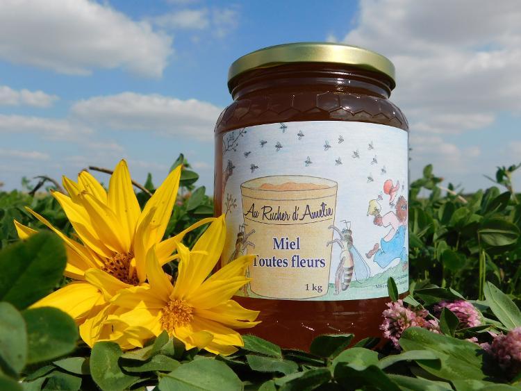 miel de fleurs, liquide, 1kg