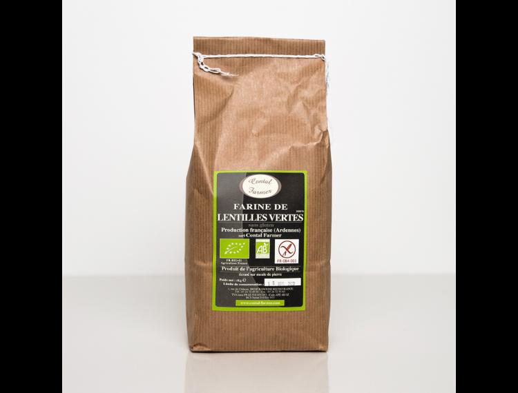 Farine de Lentilles Vertes Bio et Sans Gluten 1Kg (contal)