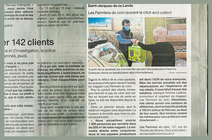 Les Fermiers du Coin dans le Ouest France !