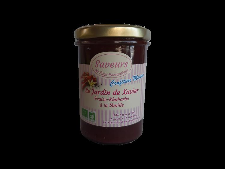 Confiture de fraise & rhubarbe à la vanille