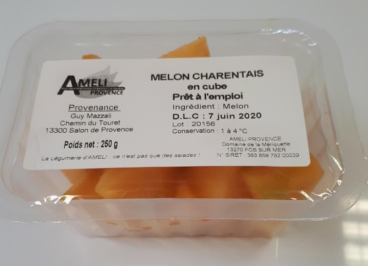 MELON CHARENTAIS EN CUBES