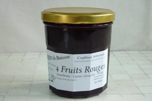 Confiture 4 Fruits Rouges Sans Pépins