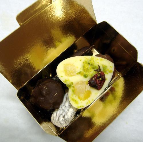 Ballotin Invité - Garni De 4 Chocolats