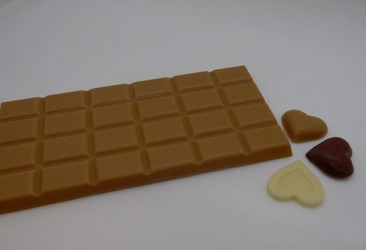Tablette chocolat blanc ambré
