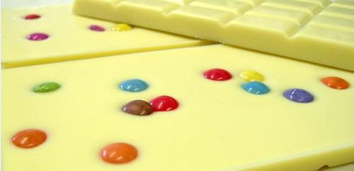 Tablette Chocolat Blanc Multicolore