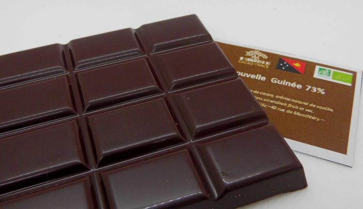 Tablette Chocolat Noir de Papouasie NG bio 73% De Cacao