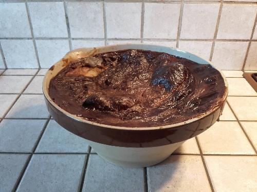 Teurgoule (riz au lait longuement cuit au four à basse température).