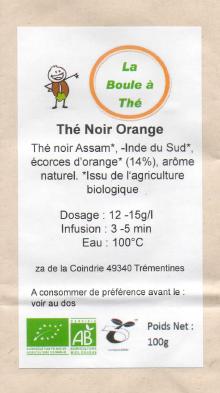 La Boule à Thé  - Thé Noir Orange
