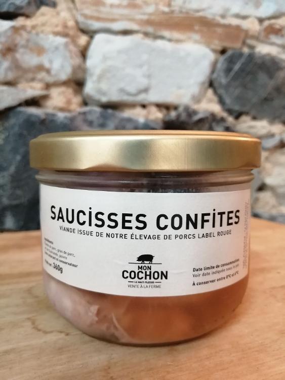 Saucisses confites