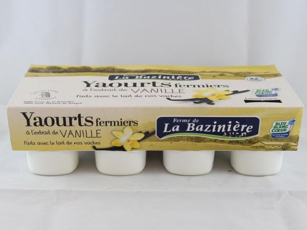 YAOURTS À LA VANILLE PAR 8