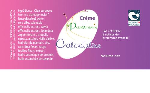 "crème ""la Calenduline"" au calendula et à la sauge 60ml"
