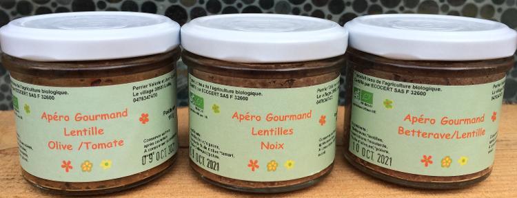 Apéro gourmand Lentilles / Noix